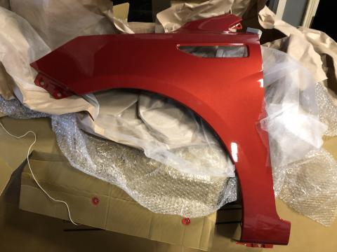 Крыло Kia Rio(11-17) левое Красный (TDY) купить в Санкт-Петербурге цена